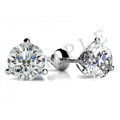 4 Triangular Prong Diamond Earrings in 18K Orlanium gallery cover image