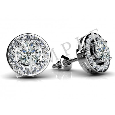 4 Triangular Prong Diamond Earrings in Platinum gallery cover image